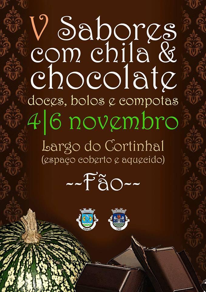 """A EPE vai estar na 5ª edição do """"Sabores com Chila & Chocolate"""", de 4 a 6 de novembro. Apareça."""